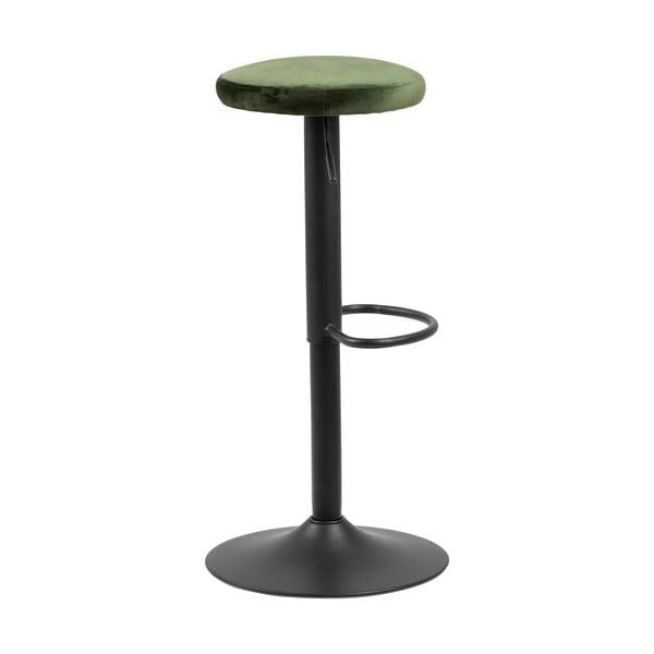 Barová židle se zeleným polstrováním Actona Finch