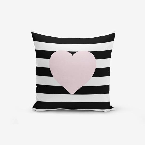 Față de pernă Minimalist Cushion Covers Striped Pink,45x45cm