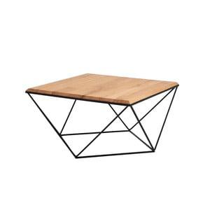 Konferenční stolek s černým podnožím a deskou z masivního dubu Custom Form Daryl, šířka80cm