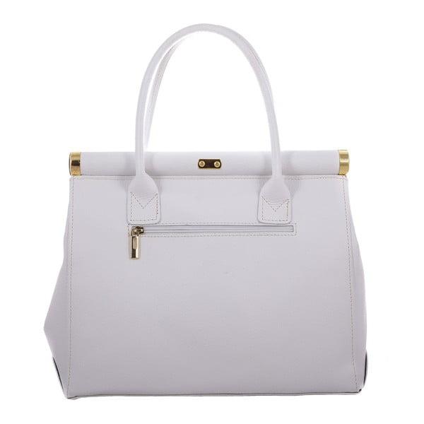 Bílá kožená taška Blair