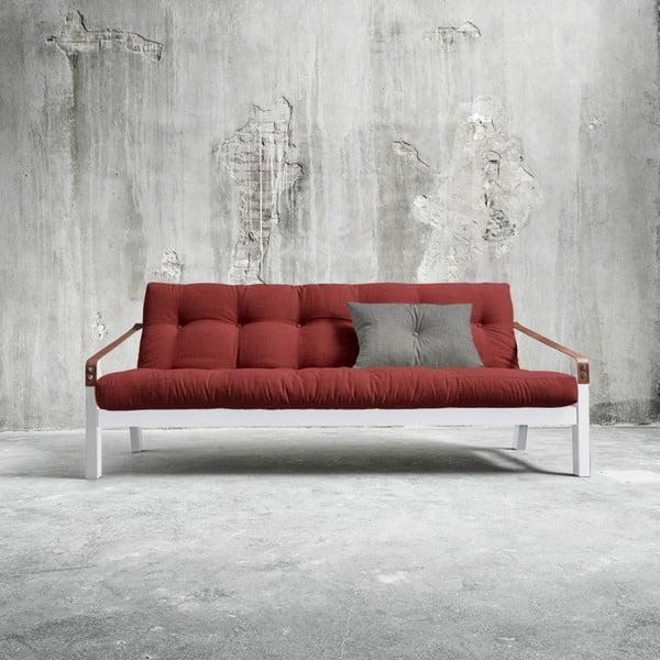 Rozkládací pohovka Karup Poetry White/Passion Red/Granite Grey