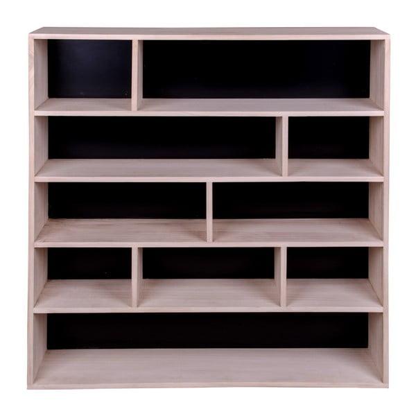 Knihovna ze dřeva pavlovnie s černými detaily House Nordic Pisa