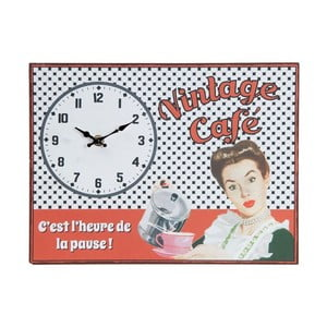 Nástěnné hodiny Vintage Café, 32x24 cm
