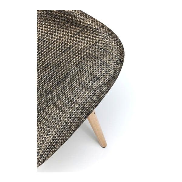 Sada 4 hnědých jídelních židlí Kare Design Forum Wood