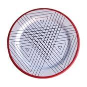 Sada 6 melaminových talířů Sunvibes Maillon Rouge, Ø 25 cm