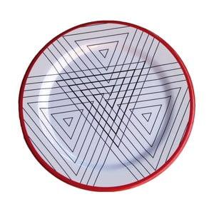 Sada 6 melaminových talířů Sunvibes Maillon Rouge, ⌀ 25 cm