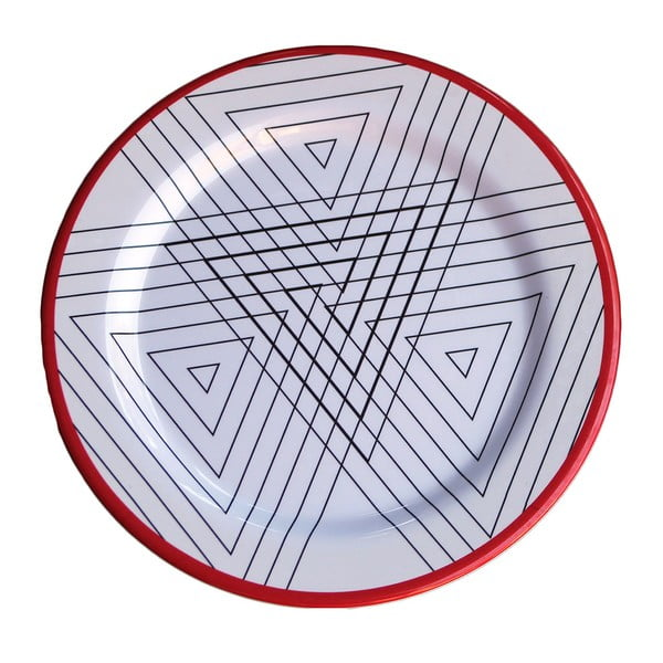 Zestaw 6 talerzy melaminowych Sunvibes Maillon Rouge, ⌀ 25 cm