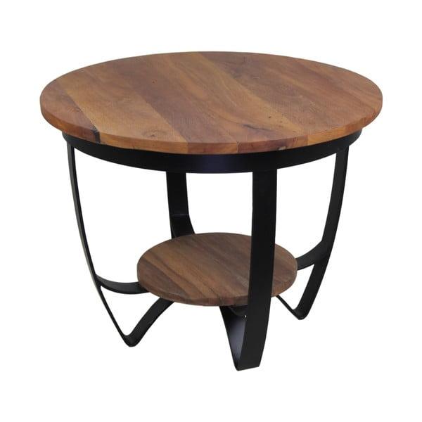 Odkládací stolek ze dřeva a kovu HSM collection Susan, 55 x 55 cm
