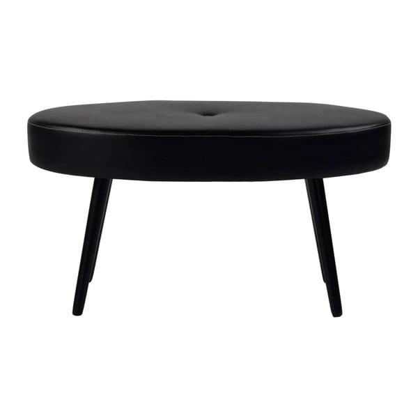 Černá oválná dubová stolička Folke Hermod