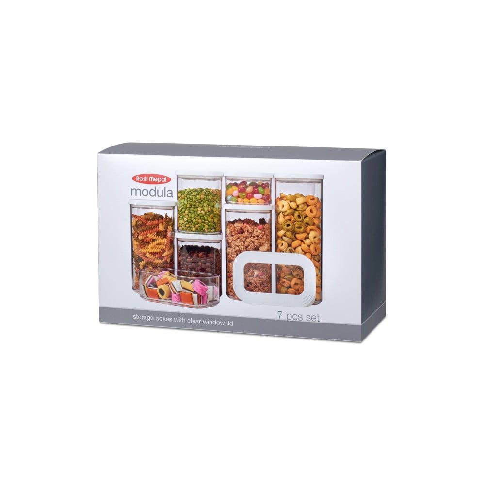 Set 7 úložných boxů na potraviny Rosti Mepal Modula Starter