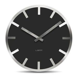 Nástěnné hodiny Black Metlev, 35 cm