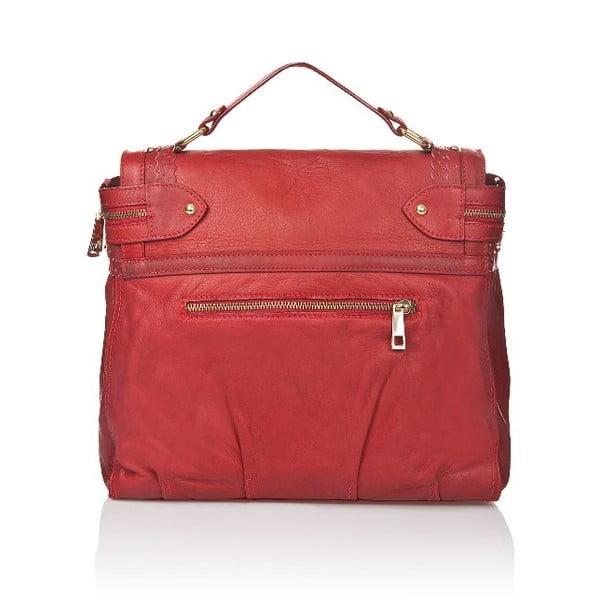 Kožená kabelka Markese 6403 Red