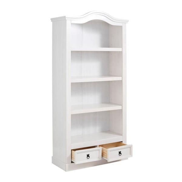 Bílá knihovna z borovicového dřeva Støraa Alfredo