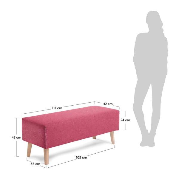 Vínově červená lavice La Forma Lydia