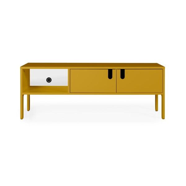 Żółta komoda pod TV Tenzo Uno, szer. 137 cm
