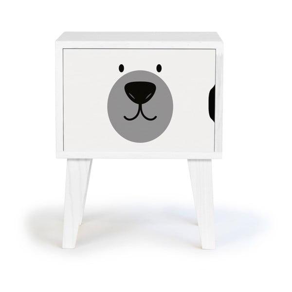 Dětský dřevěný noční stolek Little Nice Things Polar Bear