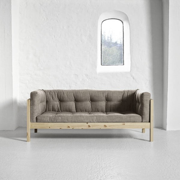 Canapea 2 locuri Karup Fusion Natural/Linoso Light Gray