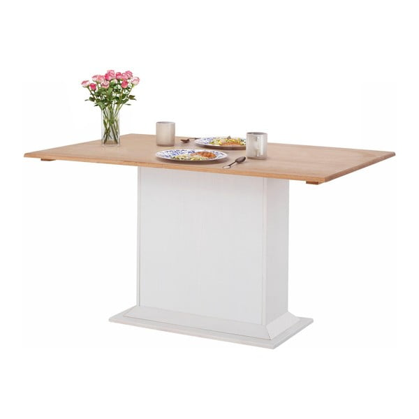 Silas fehér étkezőasztal borovi fenyőből - Støraa
