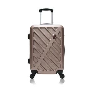 Cestovní kufr na kolečkách v barvě růžového zlata Hero Lock 91 l