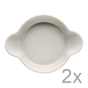 Set 2 boluri din porțelan Sagaform Piccadilly Caroline, 13×17,5 cm, bej de la Sagaform