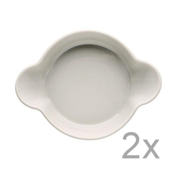 Piccadilly Caroline 2 darab bézs porcelán tál, 13x17,5cm - Sagaform