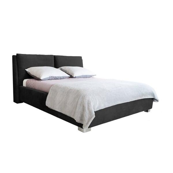 Pat dublu Mazzini Beds Vicky, 160 x 200 cm, negru