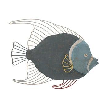 Decorațiune de perete Mauro Ferretti Fish, 55,5 x 45 cm