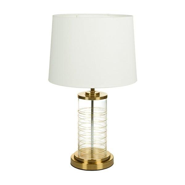 Bílá stolní lampa se základnou ve zlaté barvě Santiago Pons Earl