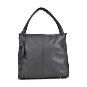 Černá kožená kabelka Sofia Cardoni Caridad