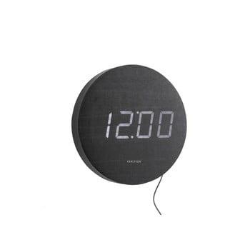 Ceas cu LED de perete Karlsson Round, negru poza