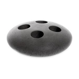 Tmavě šedý betonový stojan na kartáčky Iris Hantverk