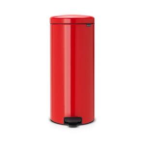 Coș de gunoi cu pedală Brabantia, 30 L, roșu
