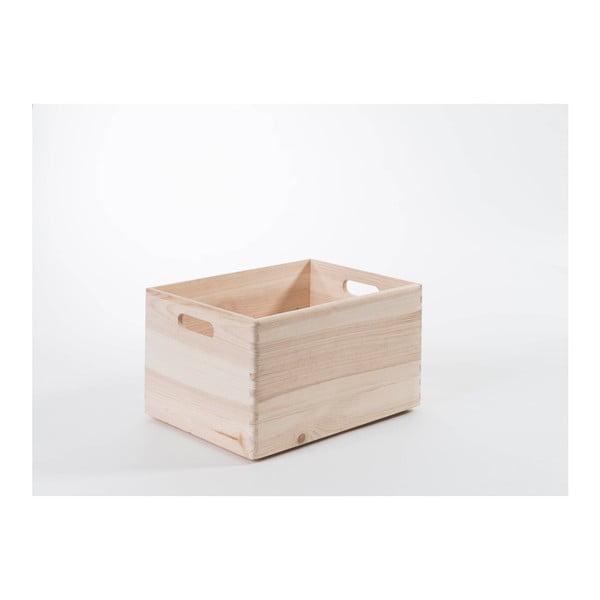 Úložný box z borovicového dřeva Compactor Custom, 40 x 30 x 23 cm