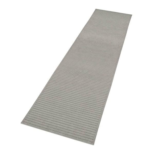 Šedý běhoun Mint Rugs Shine, 80 x 250 cm