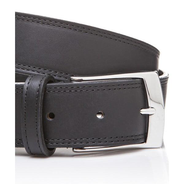 Kožený pásek Elegant Black, 115 cm
