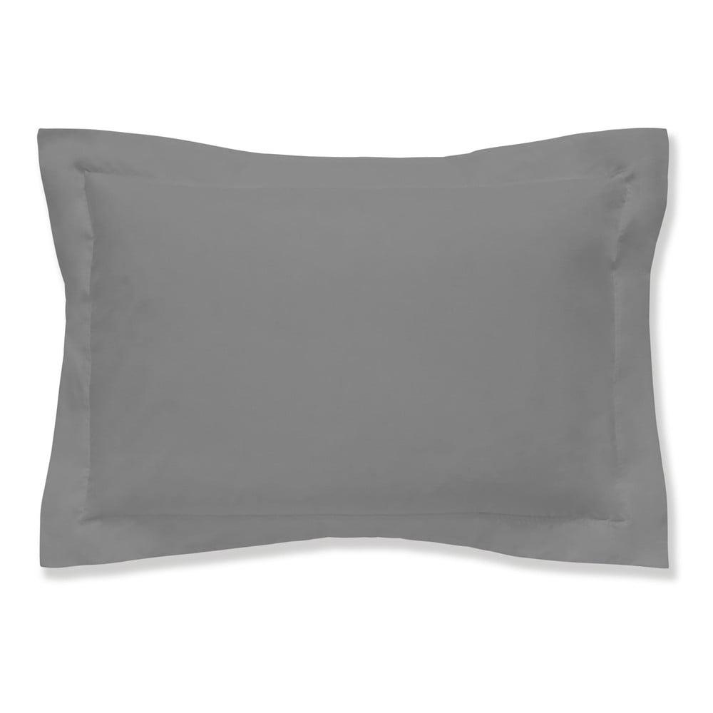 Šedý povlak na polštář z egyptské bavlny Bianca Oxford Charcoal, 50 x 75 cm