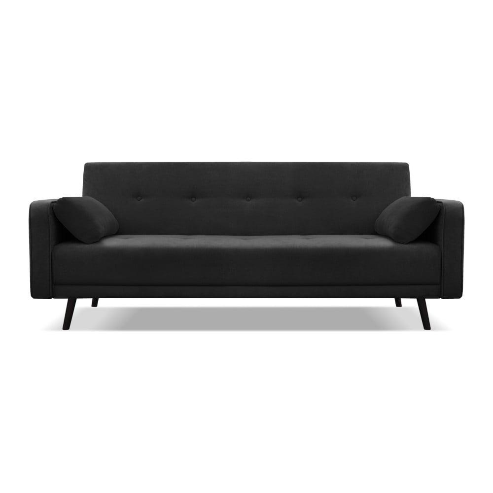 Černá rozkládací pohovka pro čtyři Cosmopolitan design Bristol