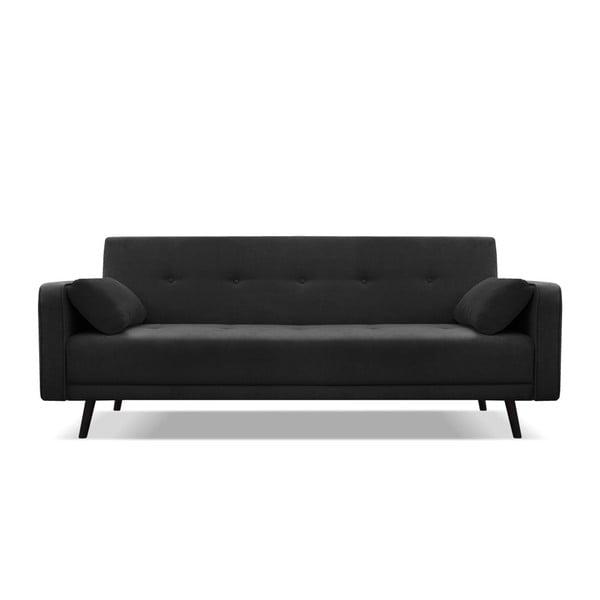 Canapea extensibilă cu 4 locuri Cosmopolitan design Bristol, negru