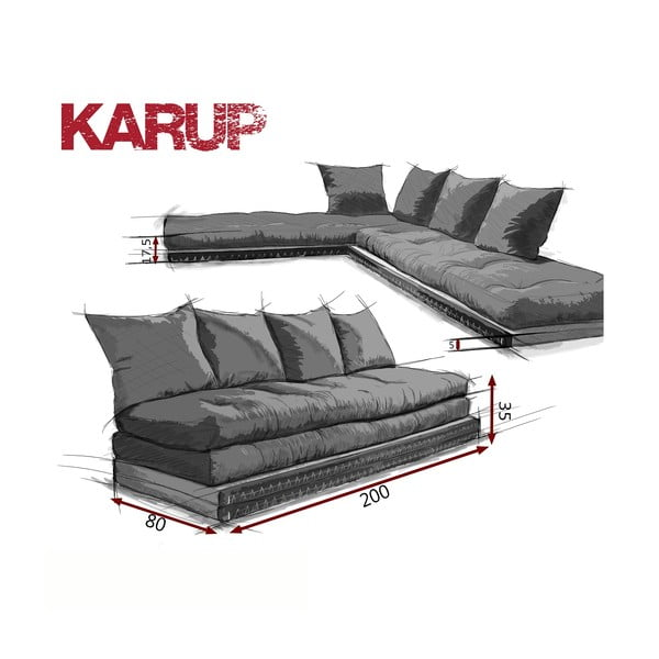 Canapea modulară Karup Chico Light Bordeaux