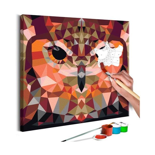 DIY set na tvorbu vlastného obrazu na plátne Artgeist Owl, 60×40 cm