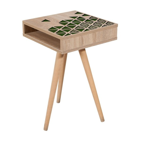 Odkladací stolík Zigon Green, 40×40 cm