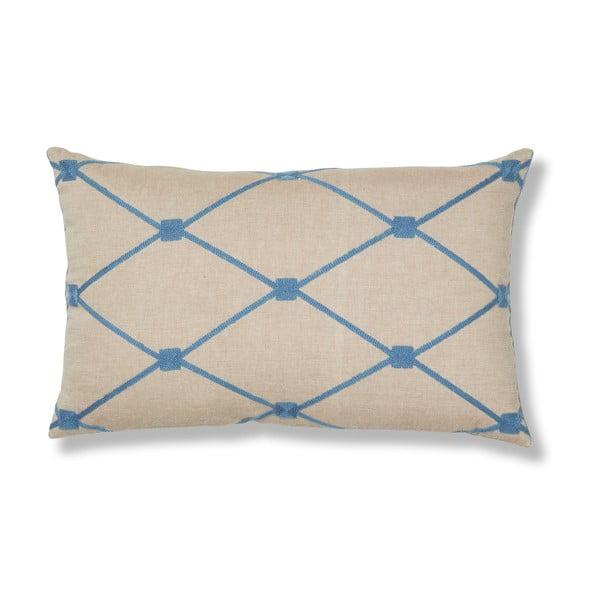 Modrý polštář La Forma Melrose, 30x50 cm