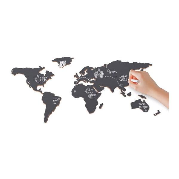 Nástěnná tabule Mapa světa