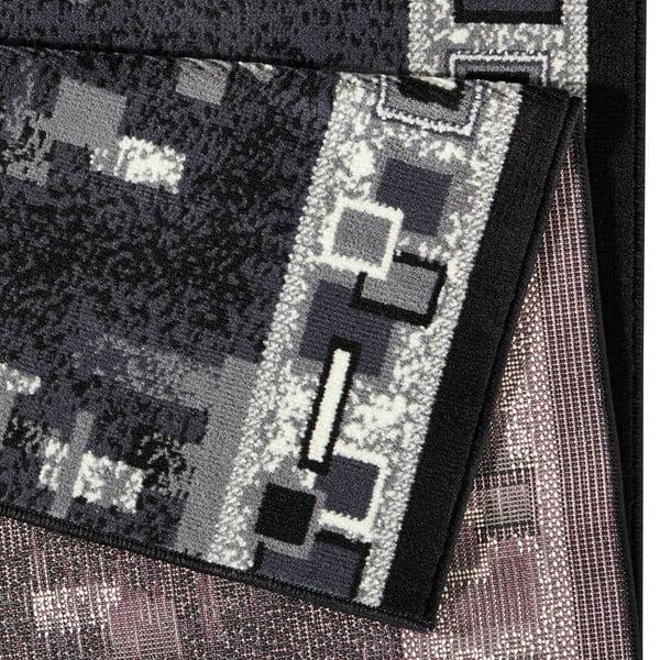 Koberec Basic Retro, 80x400 cm, šedý