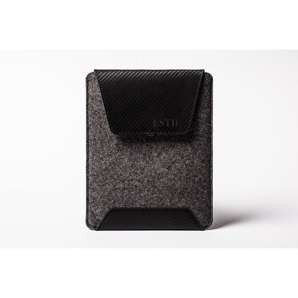 Kapsa na iPad z pravé kůže Éstie, tmavě šedé