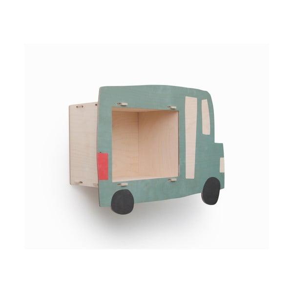 Dětská police zbřezového dřeva Little Nice Things Car