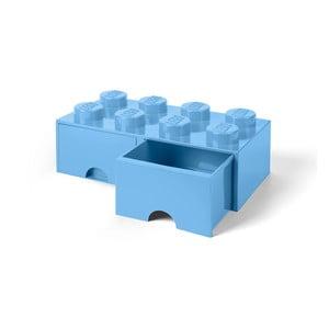 Cutie depozitare cu 2 sertare LEGO®, albastru deschis