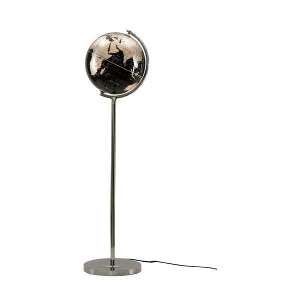 Veioză Mauro Ferretti Da Terra, înălțime130cm, negru-argintiu