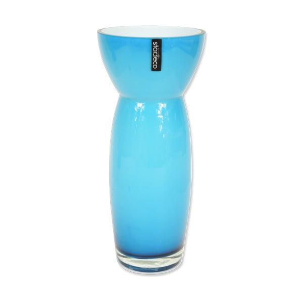 Skleněná váza Sapien, modrá