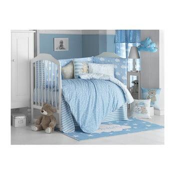 Lenjerie de pat cu cearceaf pentru copii Apolena Carino, 90 x 120 cm, albastru
